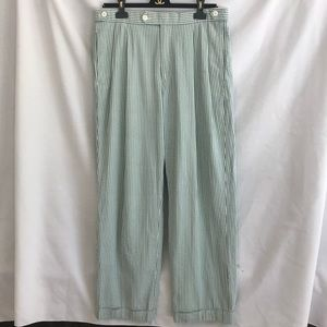 Brooks brothers men's pinstripe green pants 33